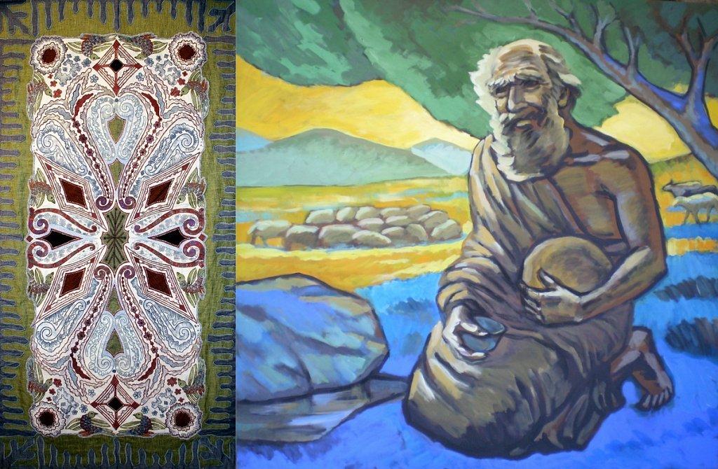 Опарина(текстиль) и Ледков(живопись) проект ...земля и что наполняет ее...
